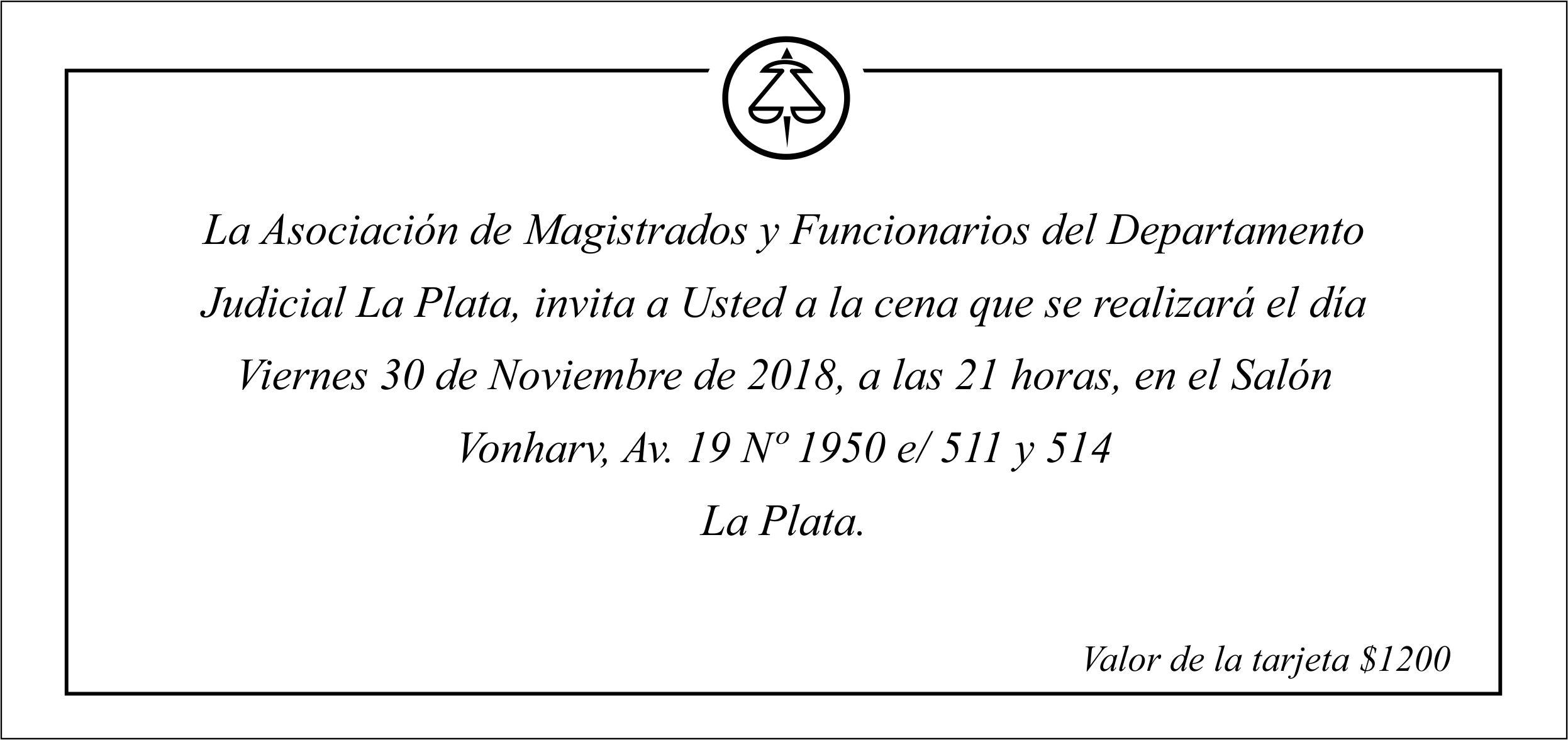 Cena de Fin de Año 30/11 21 hs.