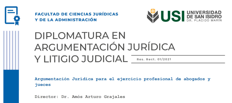 Diplomatura en Argumentación Jurídica y Litigio Judicial