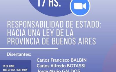 RESPONSABILIDAD DEL ESTADO: HACIA UNA LEY DE LA PROVINCIA DE LA PROVINCIA DE BUENOS AIRES